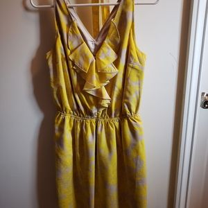 Expess Yellow floral dress